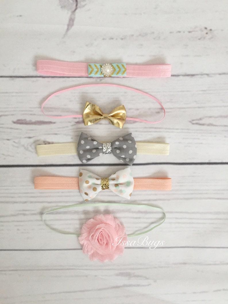Five Baby Girl Headband Set-Girls Headbands-Rosette image 0