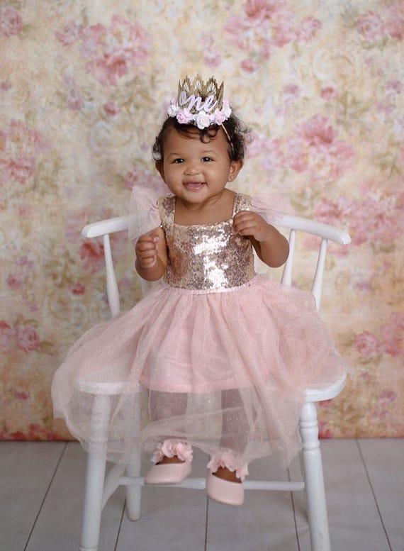 1st Birthday Dress For Baby Girl.Baby Girl Dress Gold Sparkle Dress Unicorn 1st Birthday Gold And Pink 1st Birthday Dress Pink And Gold 1st Birthday Dress Cake Smash Dress