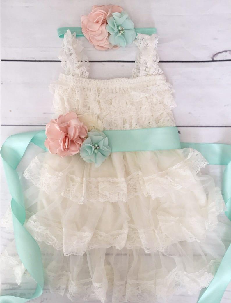 654226234 Lace flower girl dress-rustic flower girl dress-baby girl | Etsy