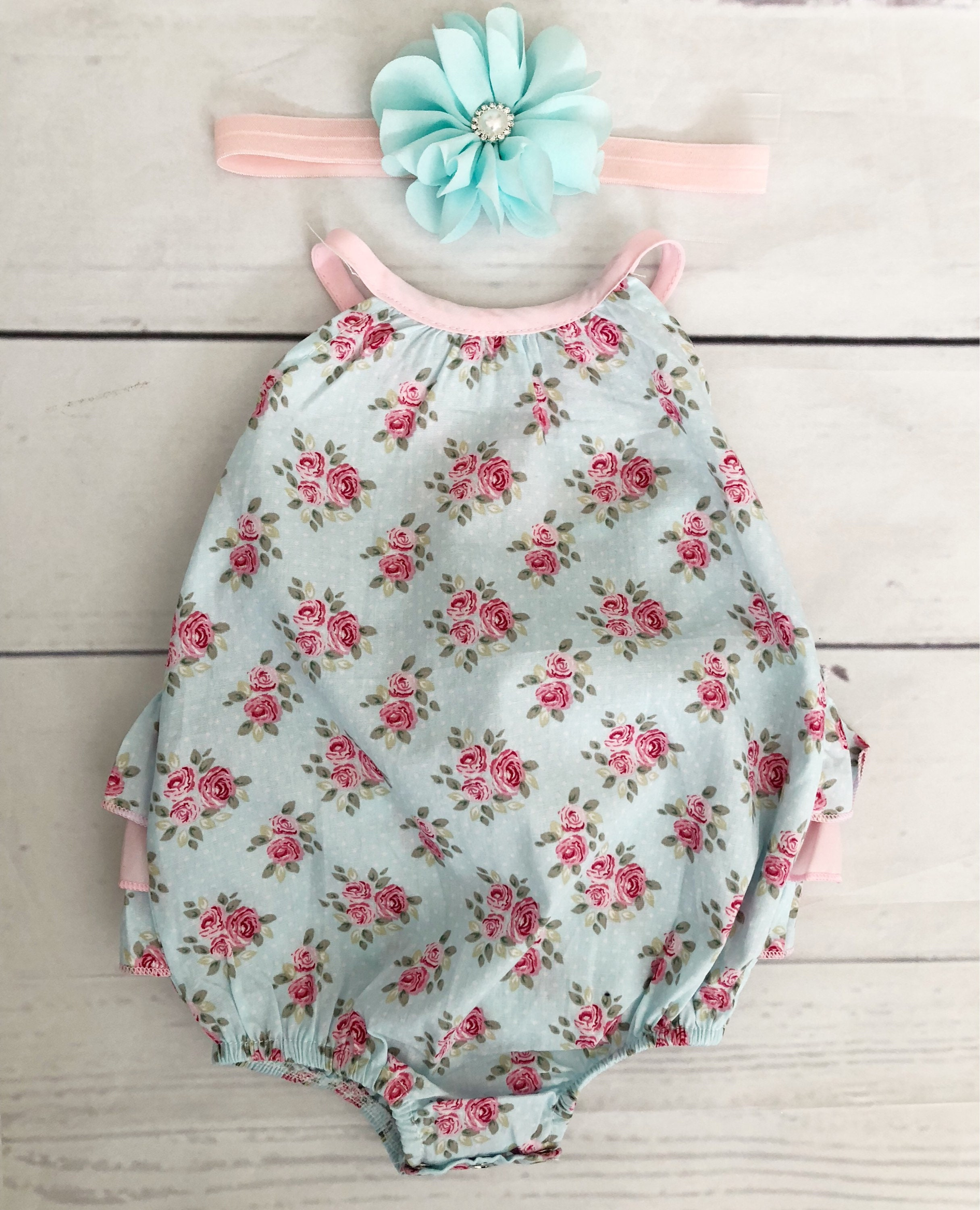 e960f0599 Baby girl clothes-baby girl bubble romper-floral baby outfit-ruffle ...