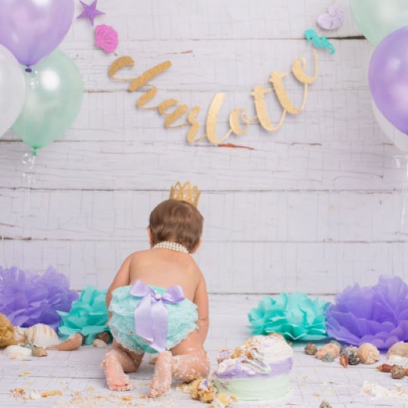 Baby Girl clothes-baby bloomers-cake smash outfit-Newborn bloomers-aqua and purple 1st birthday outfit-lace ruffle bloomers-baby shower gift