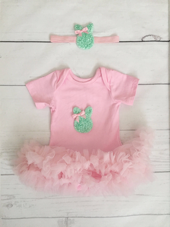 2ec5f7f66 Baby girl Easter tutu dress-baby girl clothes-Easter Bunny headband ...