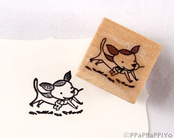 40% OFF SALE run dog Rubber Stamp