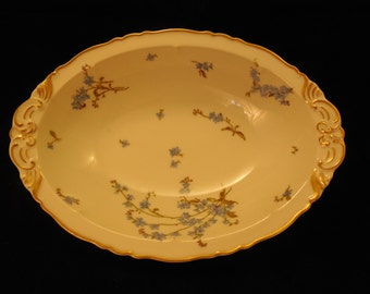 Haviland Forget-Me-Not Oval Bowl    p160