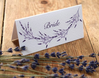 Lavender Wedding Place Card