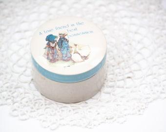 Holly Hobbie Blue Bonnet Girl Piano-shaped Cast Metal Jewelry Box Trinket Box