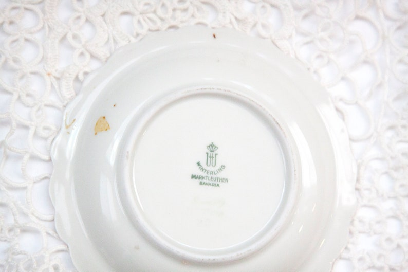 Grapes and Plums with Gold Trim Vintage Trinket Dish Winterling Marktleuthen Bavaria