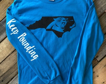 North Carolina Panthers Keep Pounding Shirt (Adult and Youth) 961b1ddec