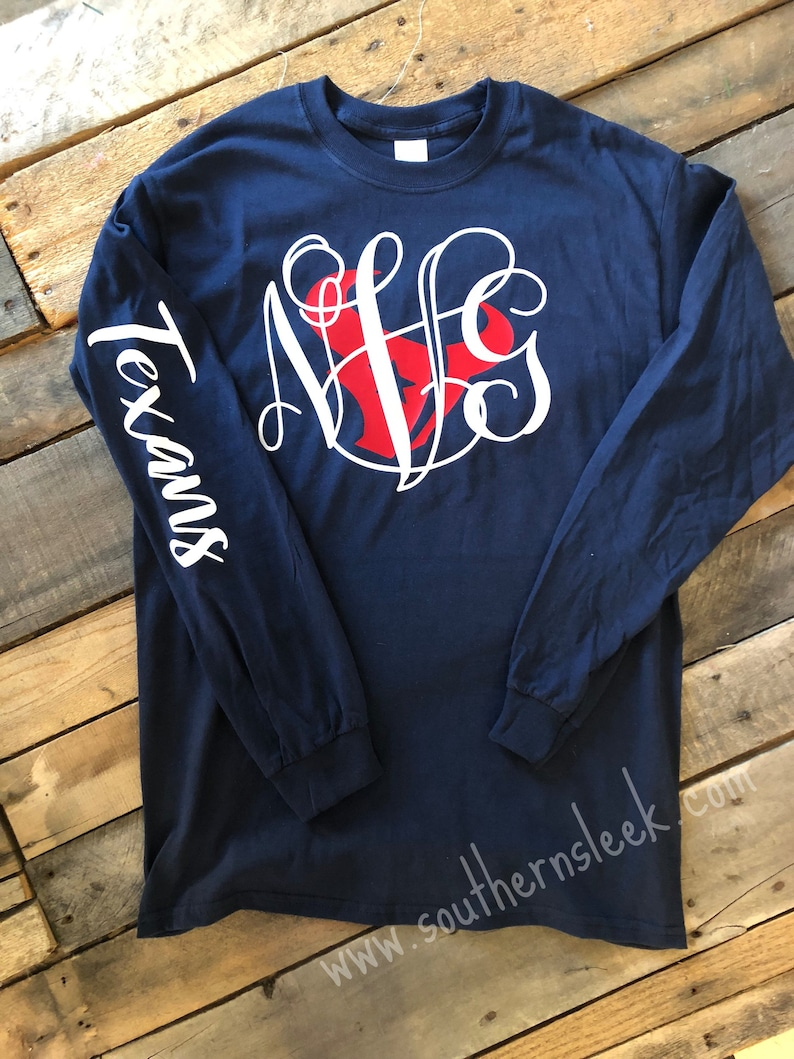 d3025e17580f Houston Texans Monogrammed T-Shirt Adult   Youth