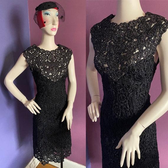 Vintage 1950s Raffia Cocktail Dress S-XL