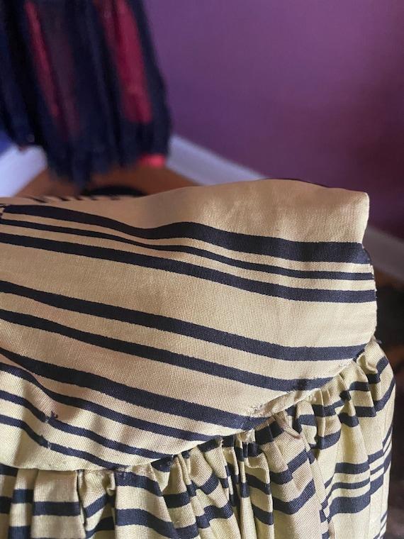 Vintage 1950s Horrockses Chartreuse Striped Dress… - image 10