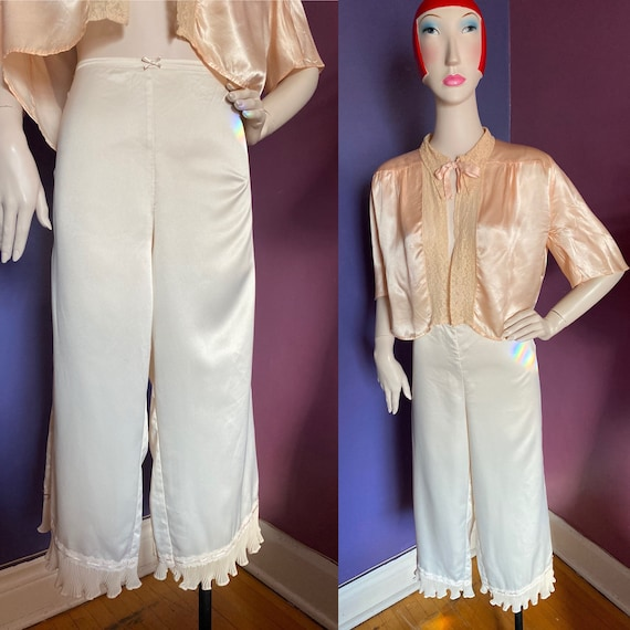 Vintage 1970s Satin Bloomers M L