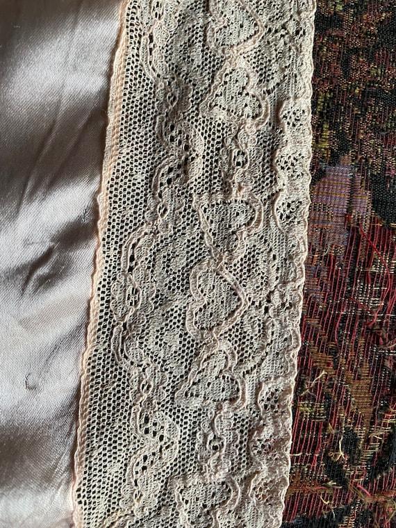 1930s Silk Satin Bed Jacket XS S - image 8