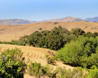 "Santa Ynez, CA ""Santa Ynez Mountains"" Fine Art Photographic Print in Various Sizes"