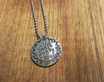 473d5ad7b Wild Heart Gypsy Soul Necklace Stainless Steel necklace BohoNecklace