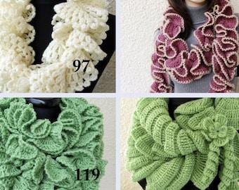 Crochet scarf pattern ruffle scarf pattern unique crochet crochet ruffle scarves patterns easy scarf diy crochet gifts unique crochet scarf patterns instant downloads dt1010fo