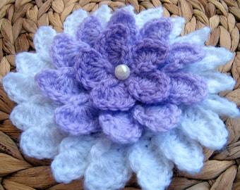 crochet flower pattern 3d flower 8 petals diy crochet etsy