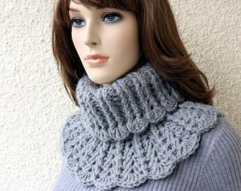 Crochet neck warmer easy PATTERN. Chunky crochet neck warmer for women & girls tutorial pattern. Instant download PDF pattern #155