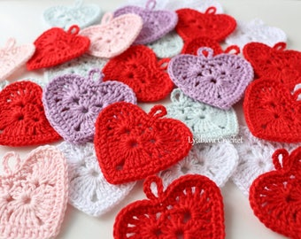 Crochet heart etsy