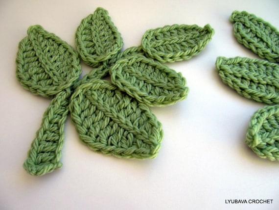 Crochet Pattern Leaf Branch Pattern Crochet Flower Applique Etsy