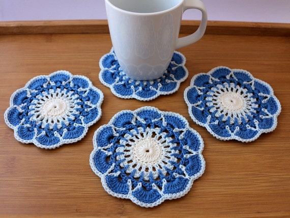 Crochet Coaster PATTERN Crochet Home Decor Pattern Coasters Etsy New Crochet Coaster Pattern