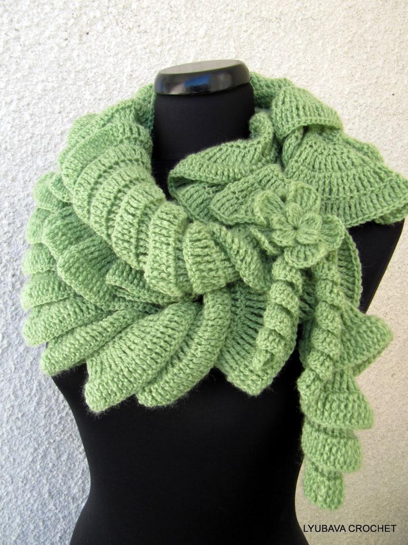 62b1d97b9480 Crochet Pattern Scarf PATTERN Ruffle Scarf Pattern Unique