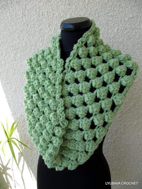 Crochet Scarf Pattern Chunky Scarf Pattern Circle Scarf Etsy