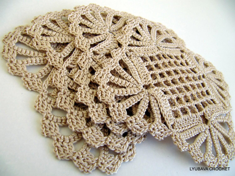 Crochet Coaster PATTERN, Shabby Chic Decor, DIY Coasters, Crochet ...