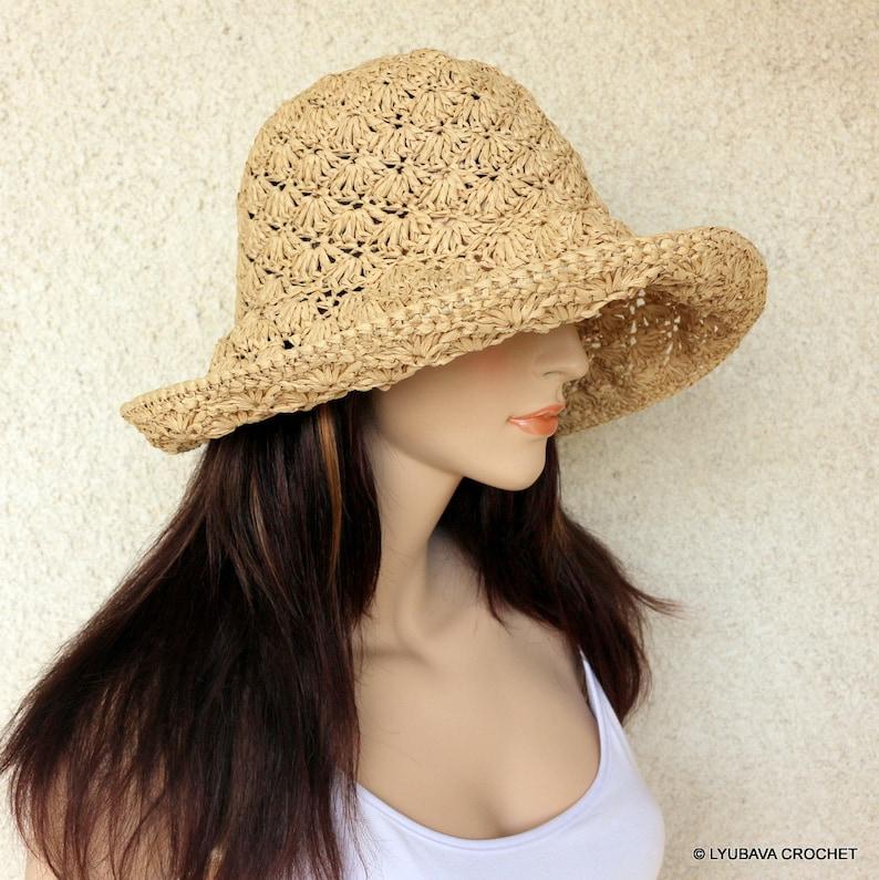 0badd3834b7 Summer Hat Crochet PATTERN Women s Crochet Sun Hat