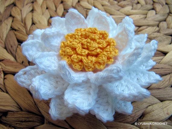 Crochet Flower Pattern Lily Flower Daisy Flower Diy 3d Etsy