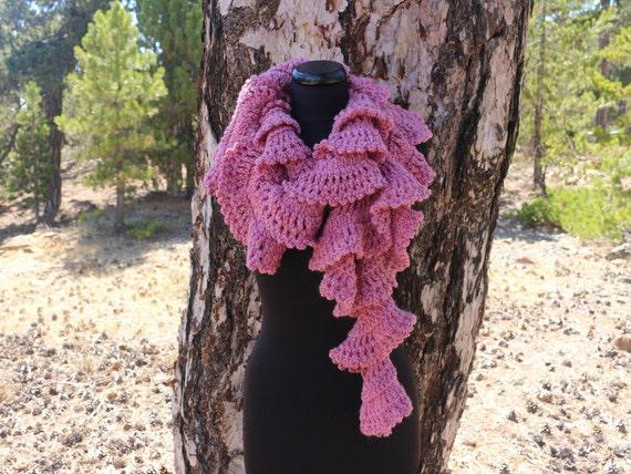 Crochet Scarf Pattern Ruffle Scarf Pattern Chunky Scarf Etsy