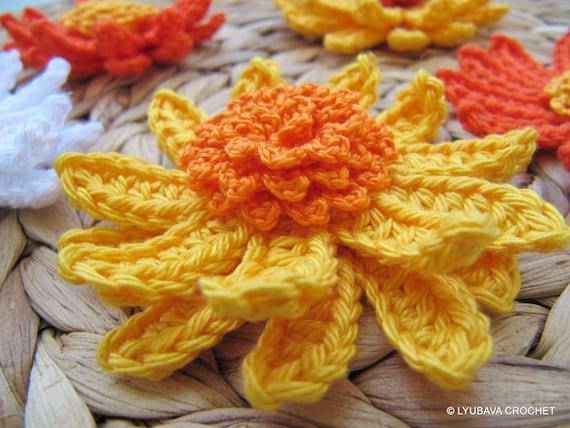 Crochet Flower Pattern Gerbera Daisy Flower Spring Diy Etsy