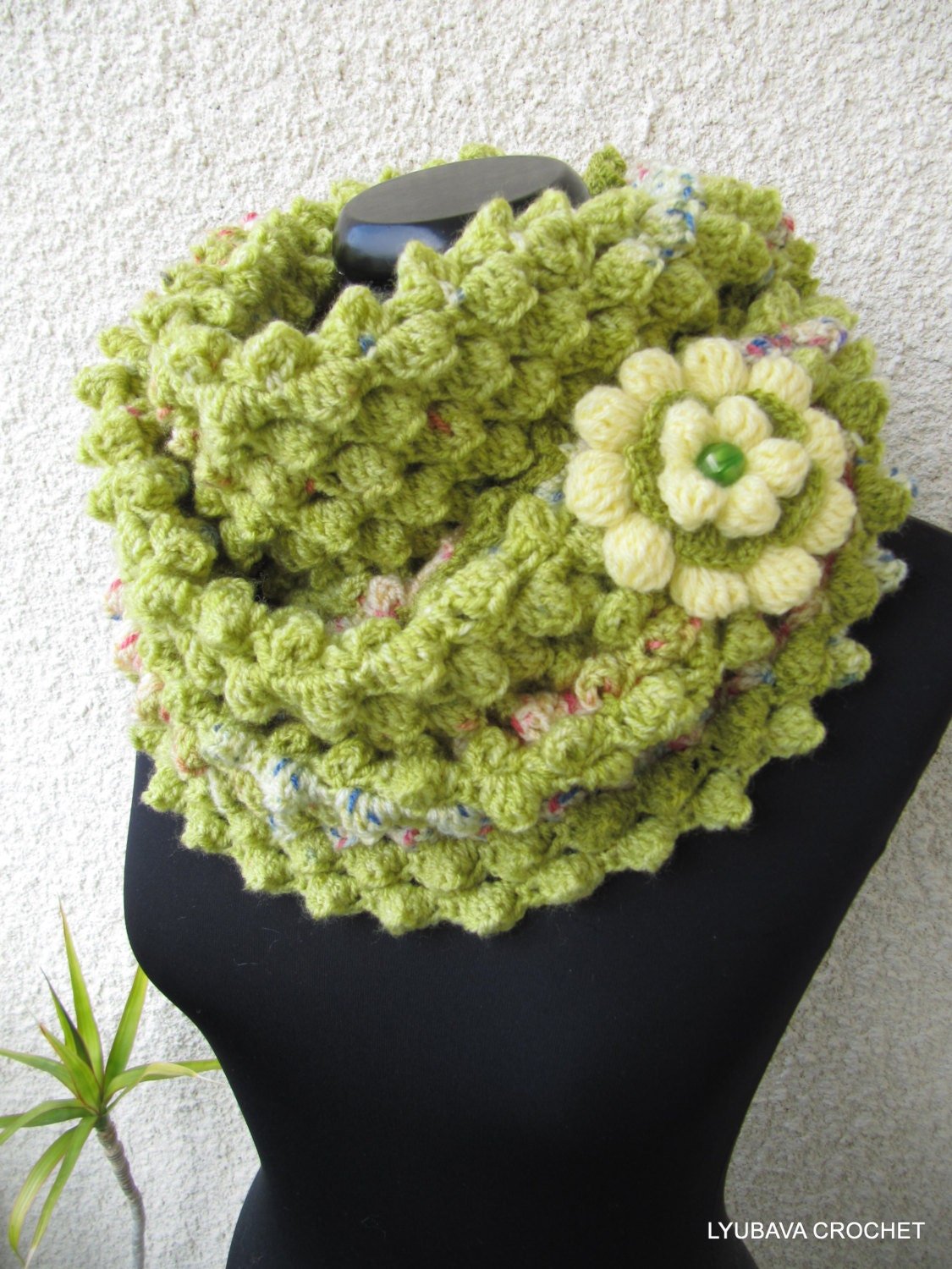 Infinity Scarf Easy Crochet Pattern Spring Is Coming Diy Etsy