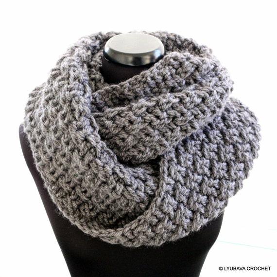 Infinity Scarf Crochet PATTERN Chunky Scarf Pattern Unisex Etsy Inspiration Chunky Infinity Scarf Crochet Pattern