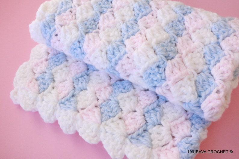 Easy Baby Blanket Crochet Pattern Baby Blanket Pattern Boy Etsy