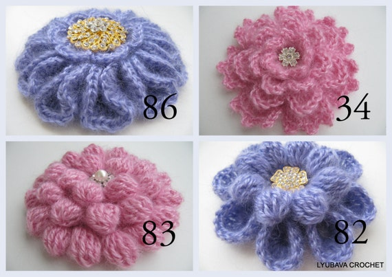 Crochet Patterns Crochet Brooch Pattern Unique Flowers 3d Etsy