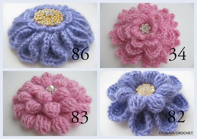 Crochet Patterns Crochet Brooch Pattern Unique Flowers 3d Etsy