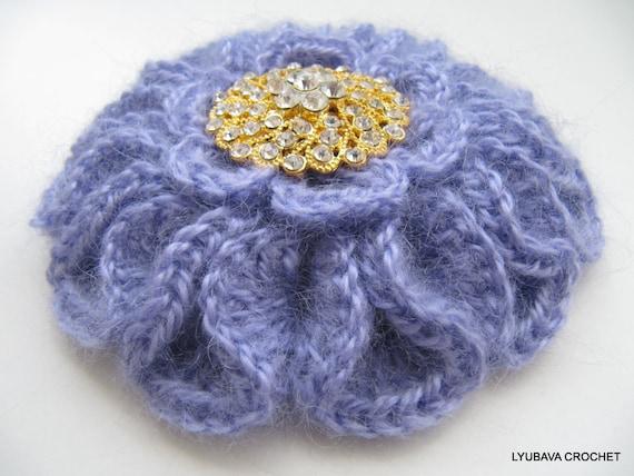 Crochet Pattern Crochet Brooch Pattern Crochet Flower Etsy
