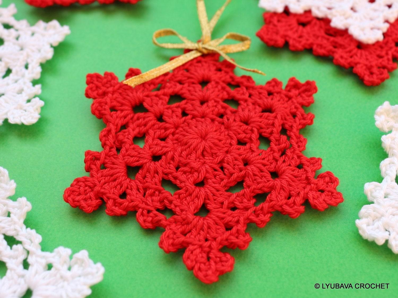 Christmas Crochet Pattern Crochet Snowflake Pattern Etsy