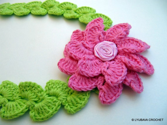 Crochet Pattern Flower Headband Pattern Baby Girl Gift Diy Etsy