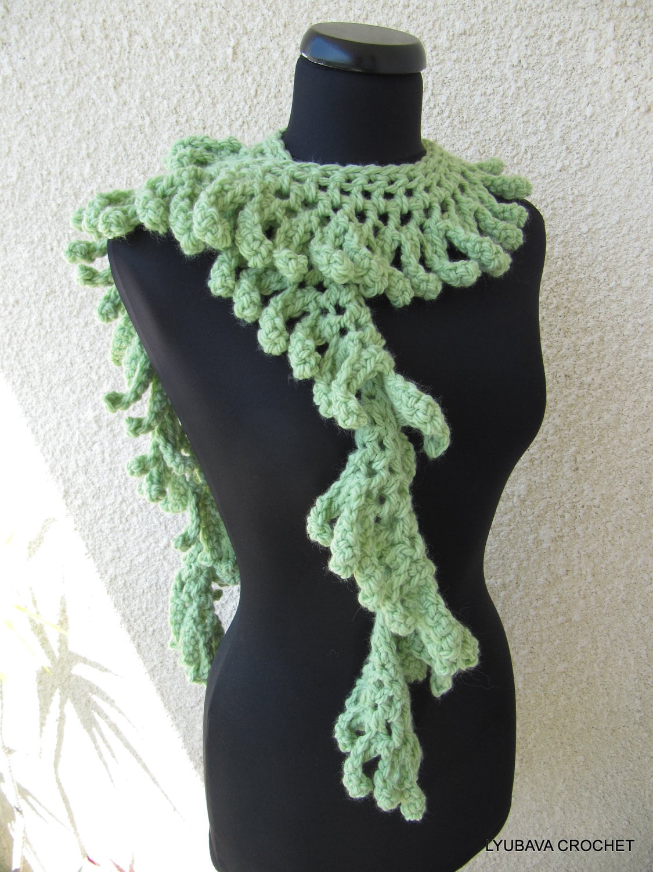 Crochet Scarf Pattern Chunky Fringe Scarf Pattern Scarf Diy Etsy