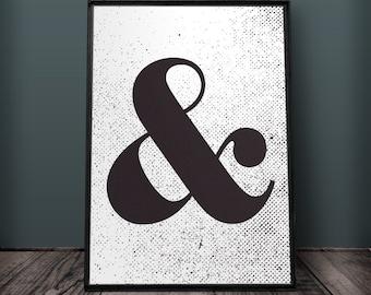 Ampersand Print, Ampersand Wall Art, Ampersand Wall Decor, Printable Ampersand, Large Ampersand Print, Ampersand Print