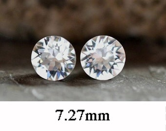 7.27mm, Crystal Studs, Rhinestone Stud Earrings, Xirius, Clear Crystal Stud Earrings, April Birthstone, Birthstone Earrings