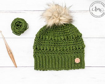 PDF Crochet Pattern - Cypress Beanie Sizes 6-10 Years to Adult Large