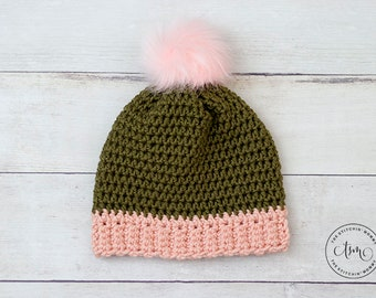 PDF Crochet Pattern - Willa Hat Sizes 3-5 Years to Adult Large