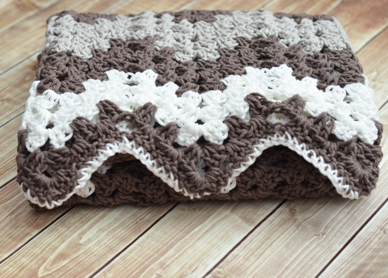 Pdf Crochet Pattern Random Stripe Granny Ripple Afghan Etsy