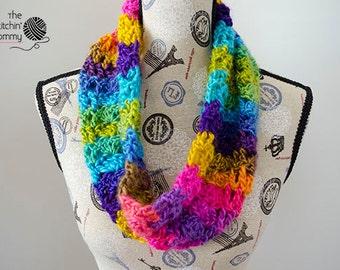 PDF Crochet Pattern - Boardwalk Carnival Cowl
