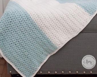 PDF Crochet Pattern - Cloud Nine Baby Blanket