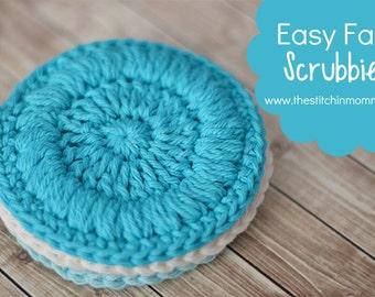 PDF Crochet Pattern - Easy Face Scrubbies