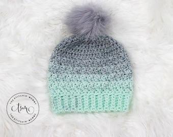 PDF Crochet Pattern - Mint Julep Hat Sizes 12-24 Months to Adult Large